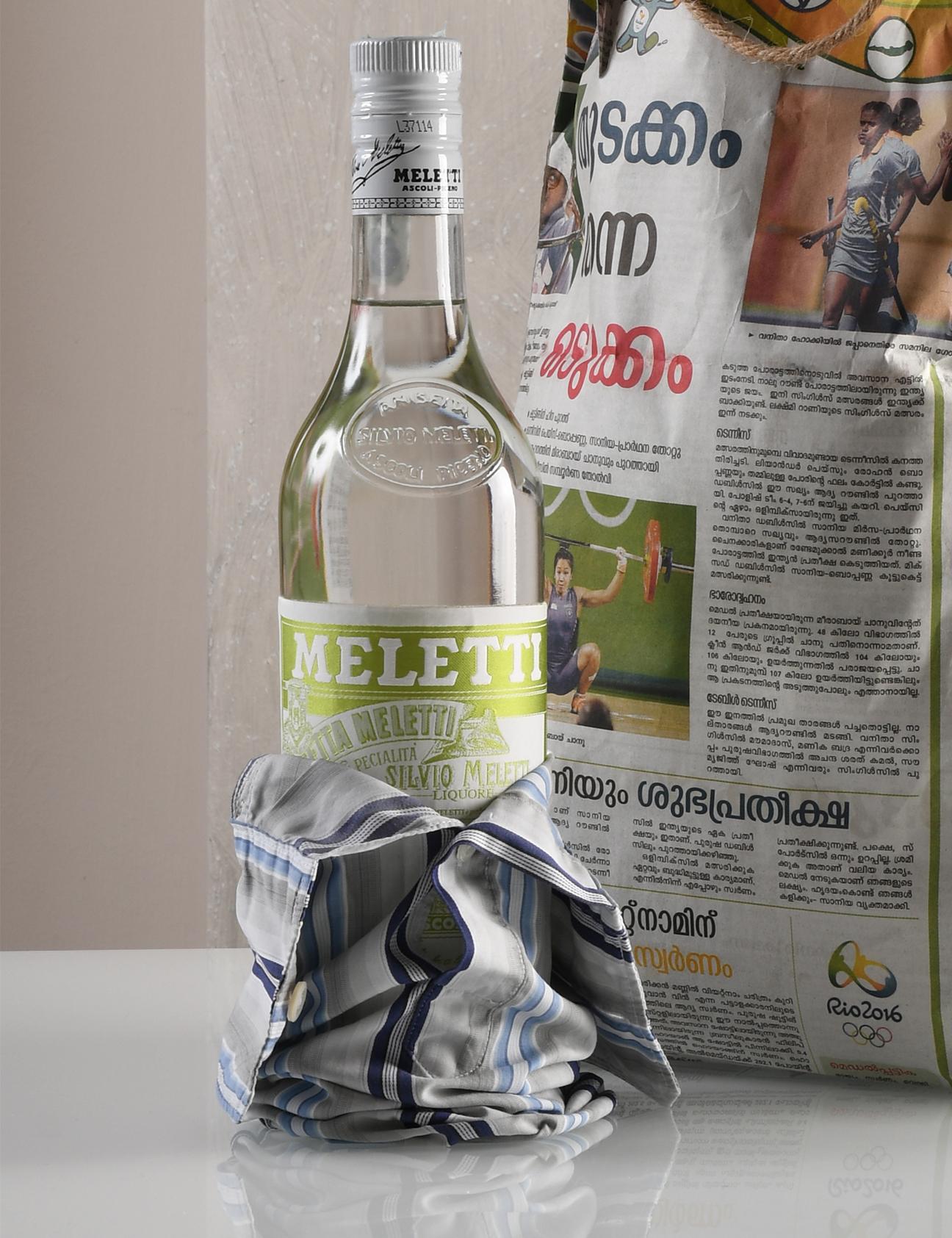 Etichetta bottiglia in tessuto